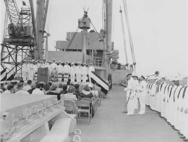 picture of shipboard ceremony